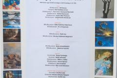 Plakat over udstillere i sep. d. 14  til sep. d. 26. 2021
